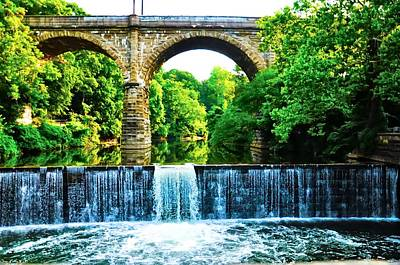 Manayunk Photograph - Wissahickon Falls by Bill Cannon