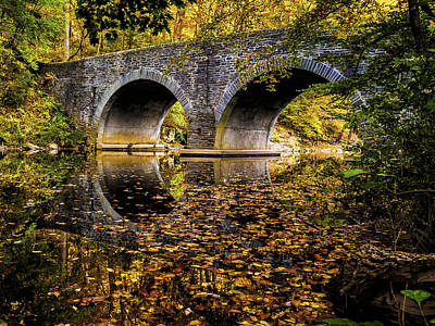 Wissahickon Photograph - Wissahickon Park Bridge by Louis Dallara