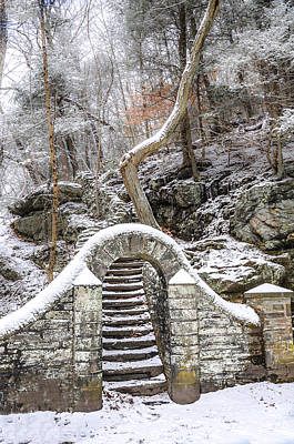 Chestnut Hill Photograph - Wissahickon Steps In The Snow by Bill Cannon