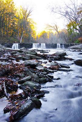 Wissahickon Waterfall Near Valley Green Inn Art Print by Bill Cannon