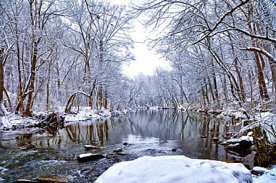 Wissahickon Winter Wonderland Art Print by Bill Cannon