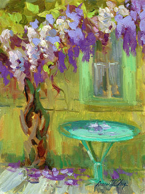 Wisteria At Hotel Baudy Art Print by Diane McClary