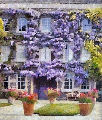 Wisteria Covered House Art Print by Desmond De Jager