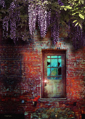 Wisteria Door Art Print