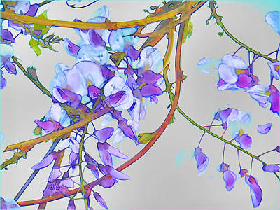 Haiku Wall Art - Painting - Wisteria by Douglas MooreZart