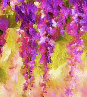 Painting - Wisteria Dreams by Georgiana Romanovna