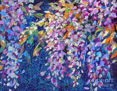 Mixed Media - Wisteria by Li Newton
