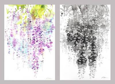 Millbury Painting - Wisteria by Sumiyo Toribe