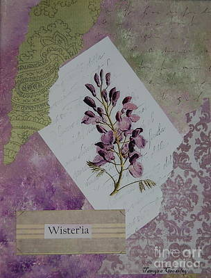 Painting - Wisteria by Tamyra Crossley