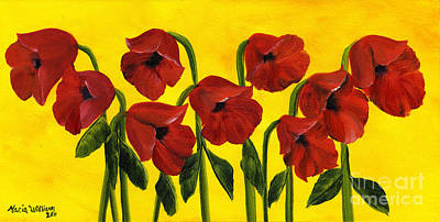 Painting - Wistful Poppies by Maria Williams