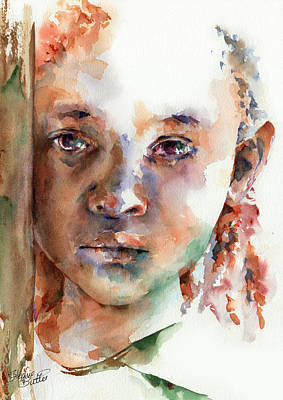 Watercolour Painting - Wistful by Stephie Butler