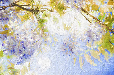 Photograph - Wistful Wisteria 2 by Andee Design