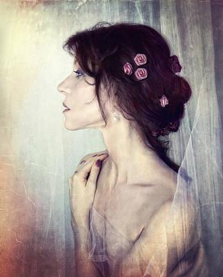 Wistfully... Art Print by Spokenin RED