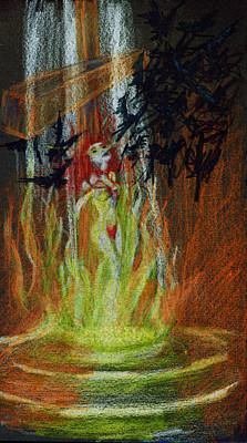 Jesus Christ Drawing - Witch Ashes by Kd Neeley