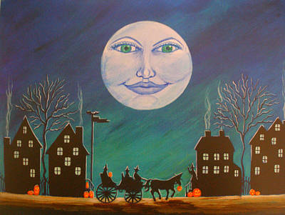 Witch Moon Art Print by Christine Altmann
