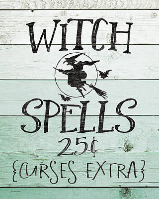 Spells Painting - Witch Spells by Jo Moulton