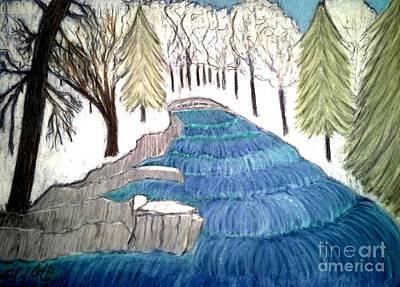 Witchata Falls Winter Art Print by Neil Stuart Coffey