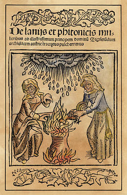 Conjurers Painting - Witches, 1489 by Granger