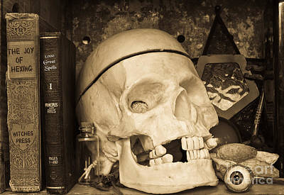 Photograph - Witches Bookshelf by Edward Fielding