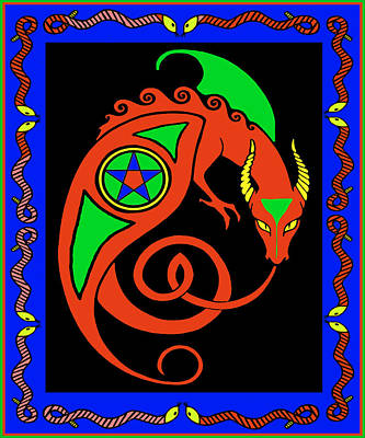 Digital Art - Witches Dragon by Vagabond Folk Art - Virginia Vivier