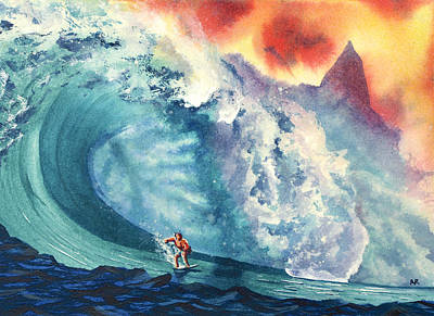 Big Wave Painting - Witches Peak by Nelson Ruger