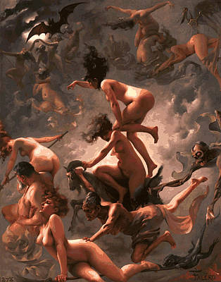 Anger Digital Art - Witches Sabbath by Daniel Hagerman