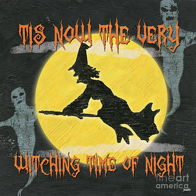 Halloween Painting - Witching Time by Debbie DeWitt