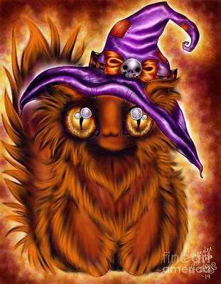 Witchkitty Art Print by Coriander  Shea