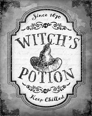 Potions Painting - Witch's Potion by Jennifer Pugh