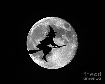 Creepy Digital Art - Witchy Moon by Al Powell Photography USA