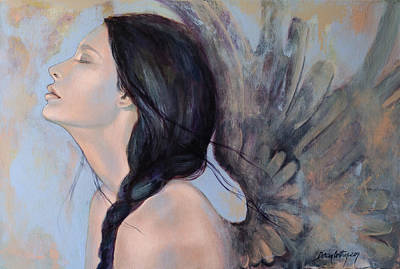 Painting - With Ancient Love by Dorina  Costras