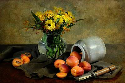 With Apricots Art Print