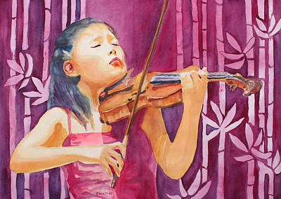 Violin Painting - With Feeling by Jenny Armitage