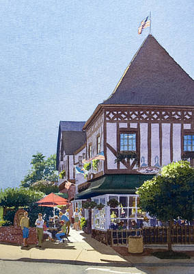Stratford Painting - With Friends At Stratford Square by Mary Helmreich