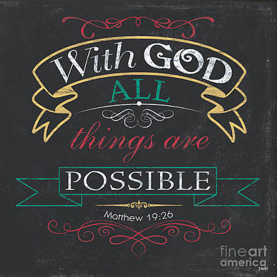 With God Art Print