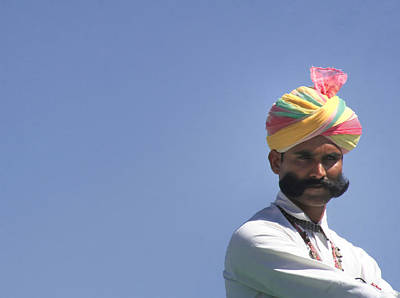 Festivals Of India Photograph - With Great Mustache Comes Great Responsibility by A Rey