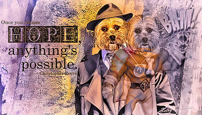 Digital Art - With Hope Anything Is Possible 3 by Kathy Tarochione
