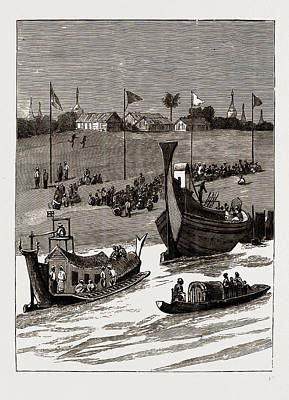 Lord Drawing - With Lord Dufferin In Burma The Viceroys Return To Rangoon by Litz Collection