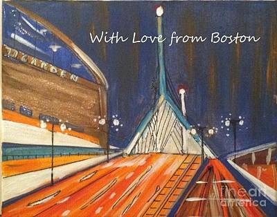 With Love From Boston Art Print