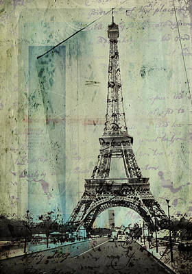 With Love From Paris  Art Print by Steven  Taylor