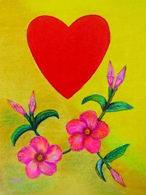 Love Drawing - With Love by Zina Stromberg