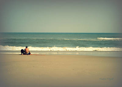 Photograph - With My Buddy At The Beach by Paulette B Wright