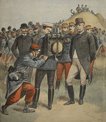 With The Army Manoeuvres The Duke Art Print by French School