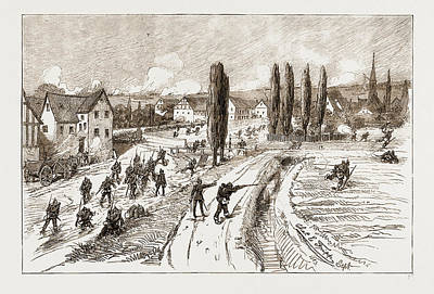 With The Eleventh Army Corps, Near Homburg The Capture Art Print by Litz Collection