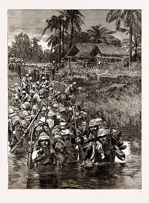Field Lights Drawing - With The Tonghoo Field Force, Burma Somersetshire Light by Litz Collection