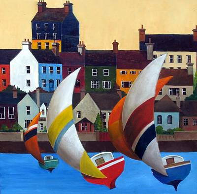 Painting - Cork With The Wind In Kinsale Harbour   by Val Byrne