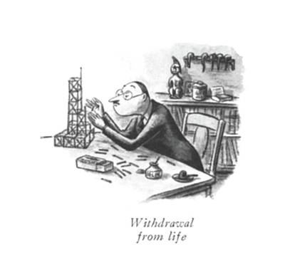 During Drawing - Withdrawal From Life by William Steig