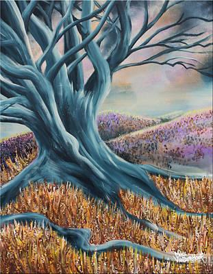 Spooky Scene Painting - Withering Heights by Mike Vanderhoof