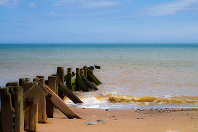 Withernsea Groynes Art Print by Scott Lyons