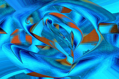 Digital Art - Within - Fine Art Digital Abstract by rd Erickson